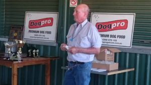 John Crombie presentation thanks to Sponsor Dog Pro