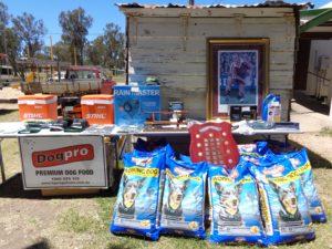 Prize table & Dog Pro sponsors